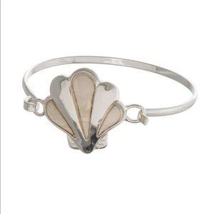 Jewelry - Metal Latch Bracelet with a Seashell Focal NWT